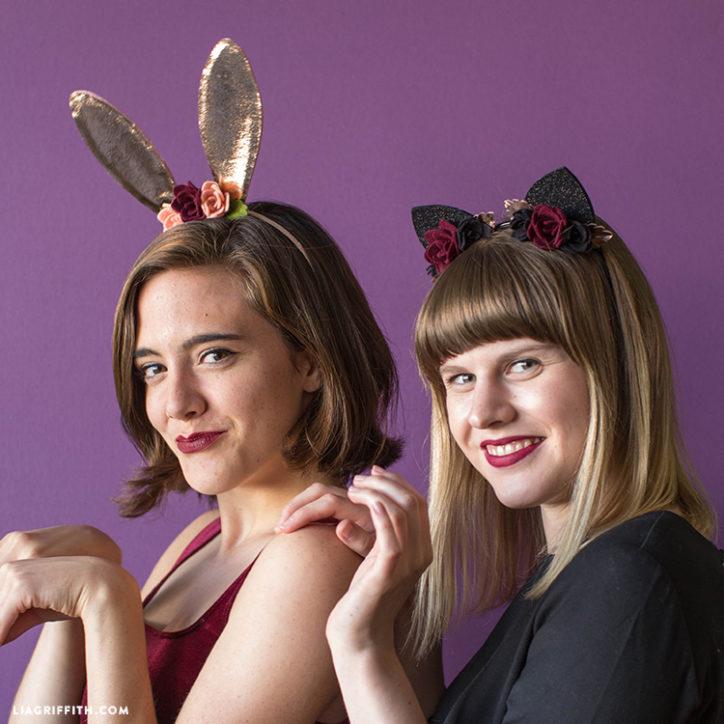 DIY bunny and cat ears headbands