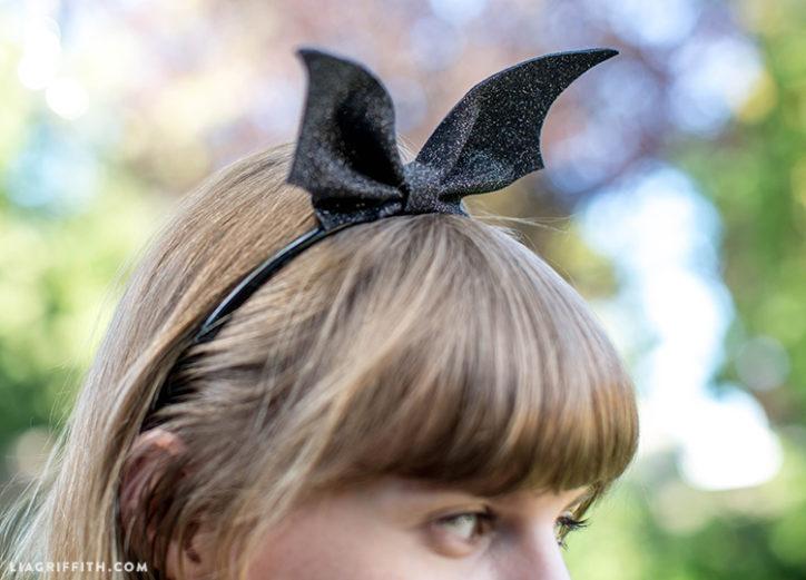 DIY bat wings headband for Halloween