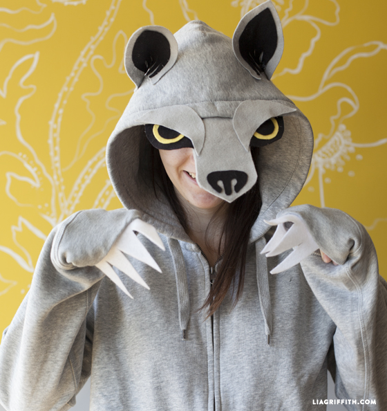 DIY wolf costume for adults
