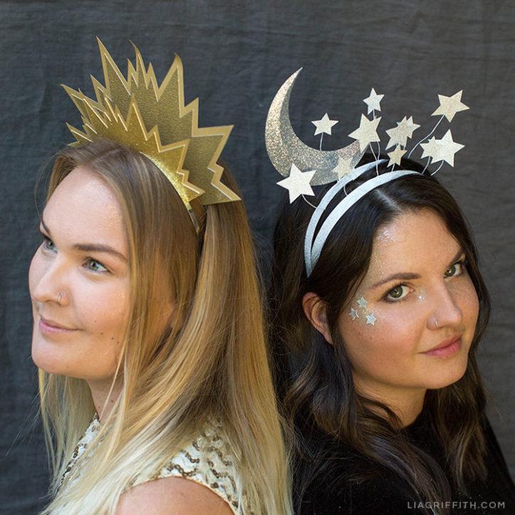 DIY Sun & Moon Headbands for Halloween