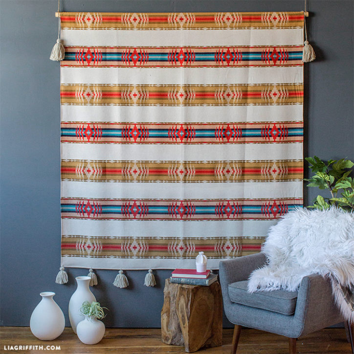 DIY blanket wall art