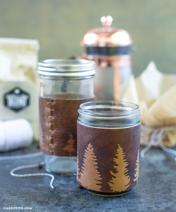 DIY leather cup sleeve