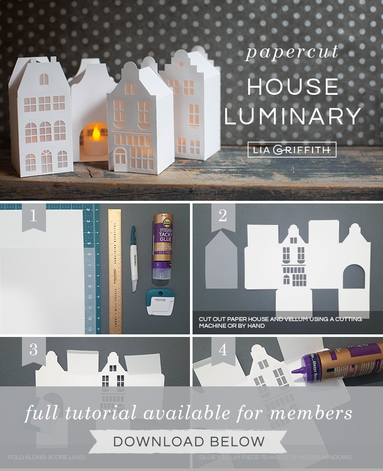 Photo tutorial for paper canal houses by Lia Griffith