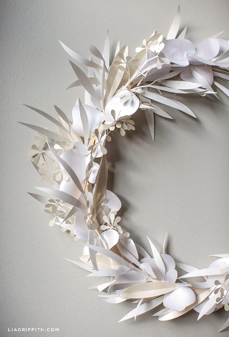 white paper eucalyptus wreath