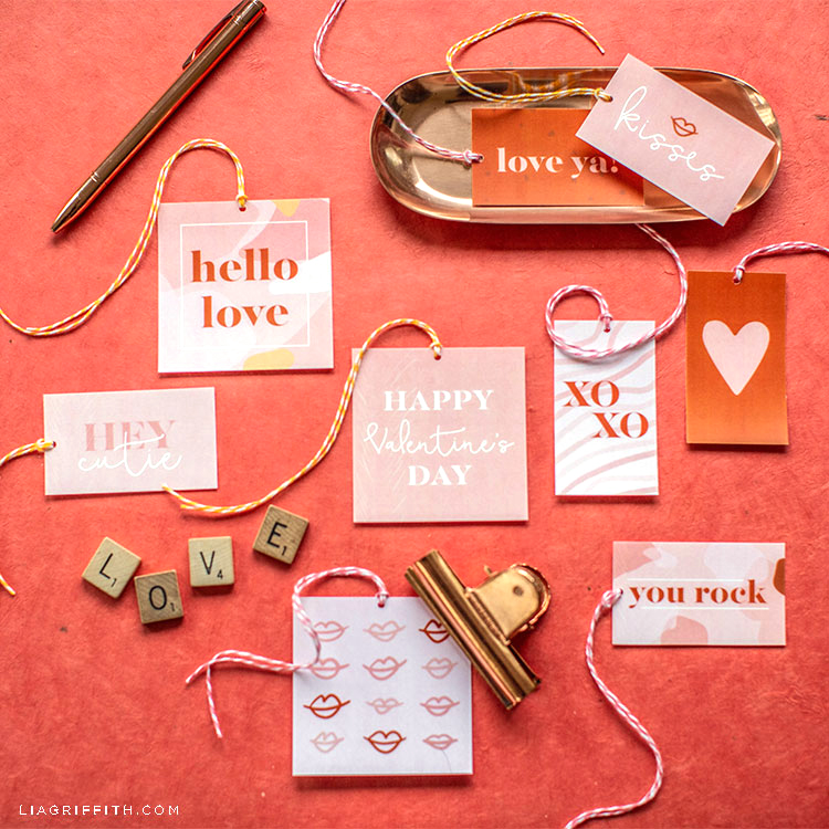 terrazzo Valentine's Day gift tags