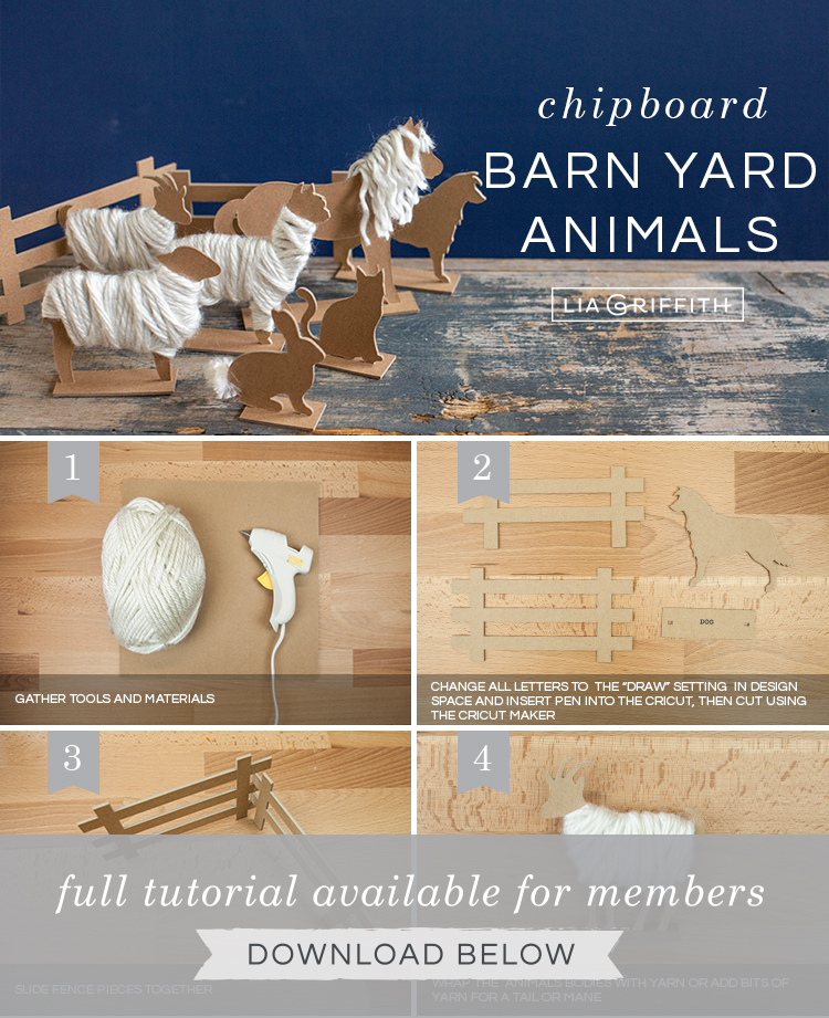 Photo tutorial for chipboard barnyard animals by Lia Griffith