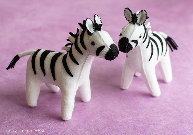 felt zebra stuffies