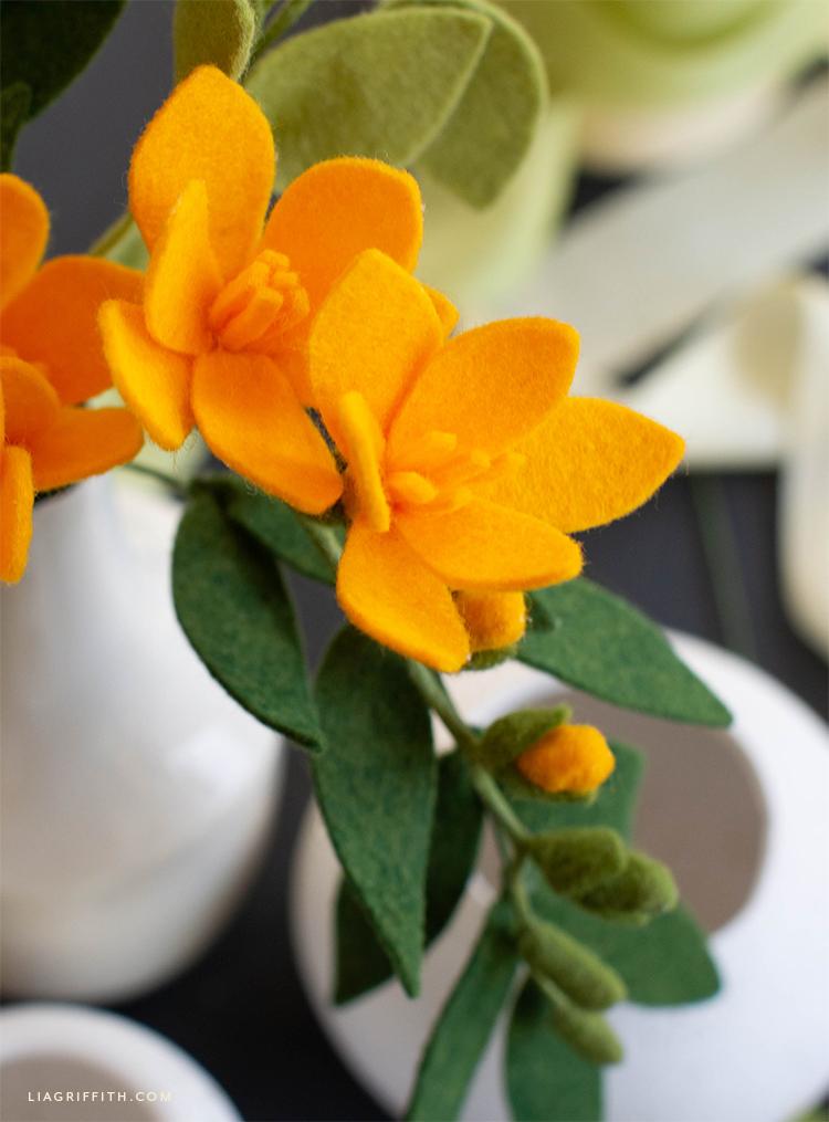 felt freesia flowers