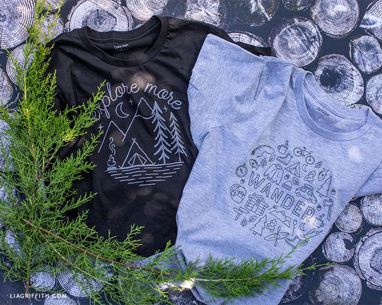 DIY camping shirts