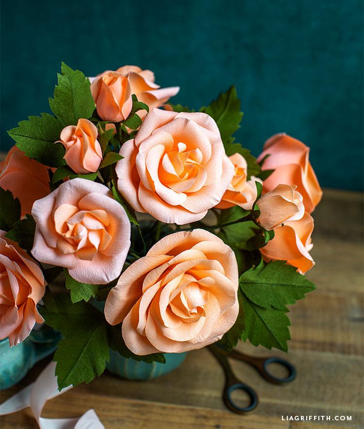 gorgeous handmade crepe paper roses