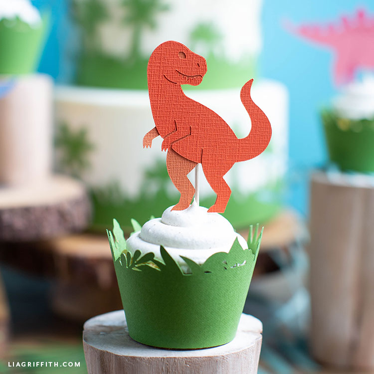 dinosaur cupcake topper