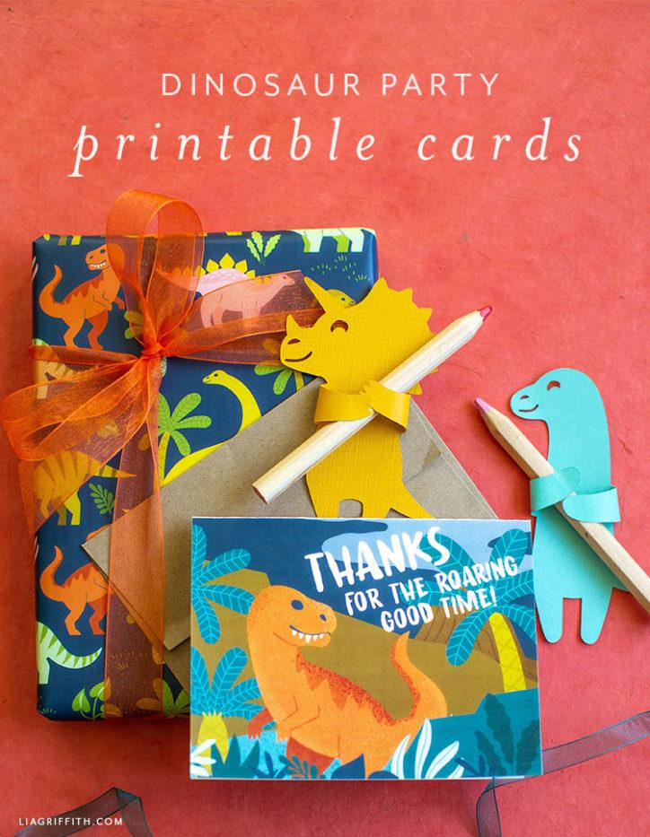 dinosaur thank-you cards