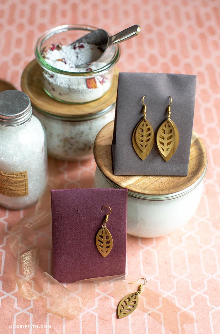 DIY earrings in DIY earring holders