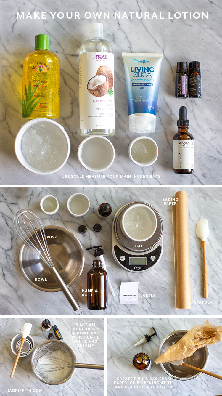 ingredients for homemade lotion