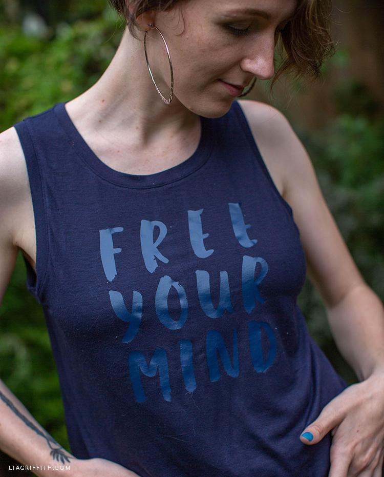 """Free Your Mind"" iron-on tank"