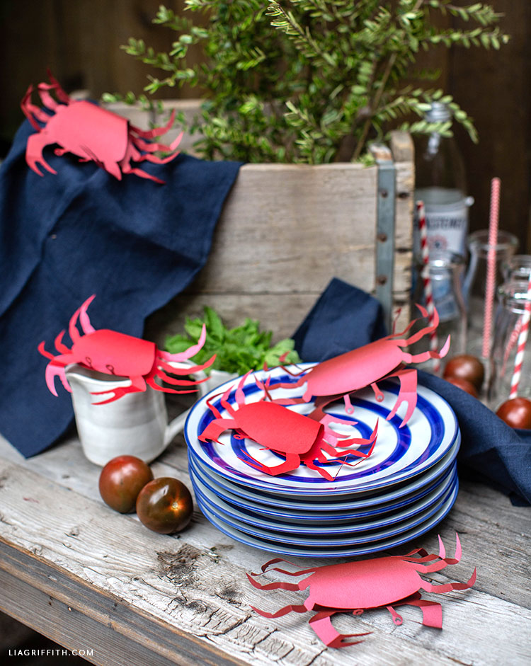 paper crabs party decor