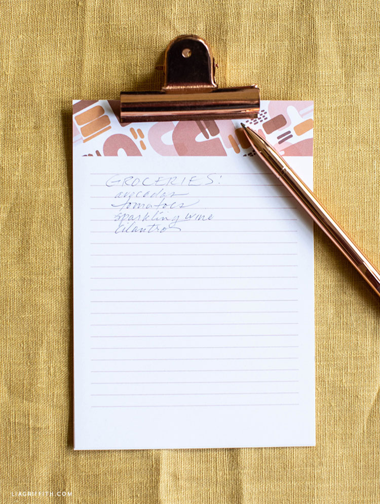 printable notepad for groceries
