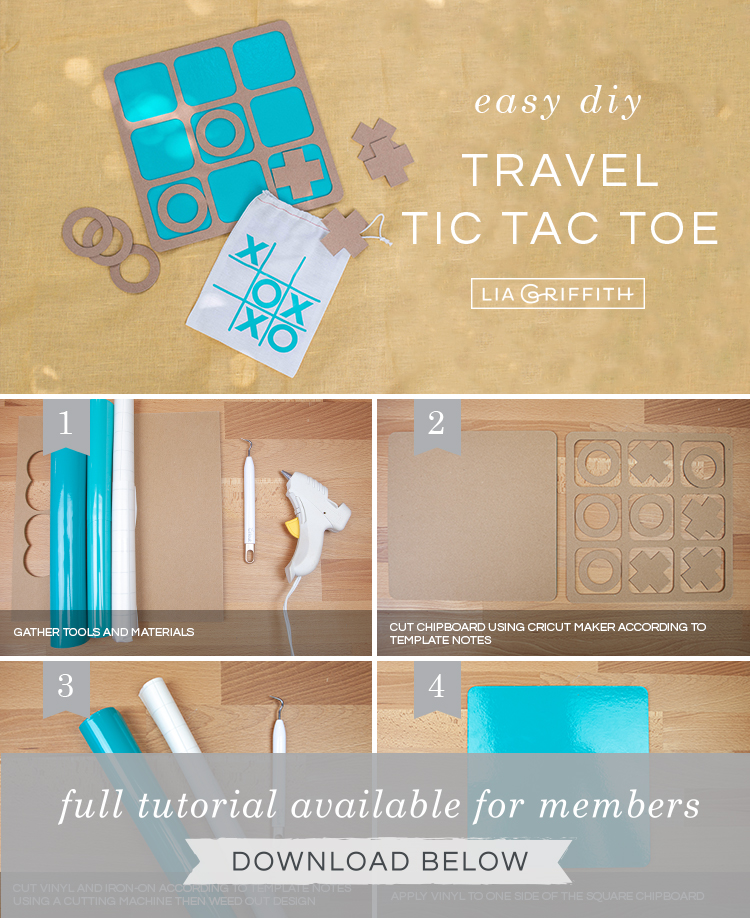 Craft your own travel tic tac toe game with our step-by-step photo tutorial