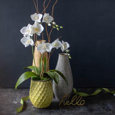 August Member Make: Crepe Paper Phalaenopsis Orchid