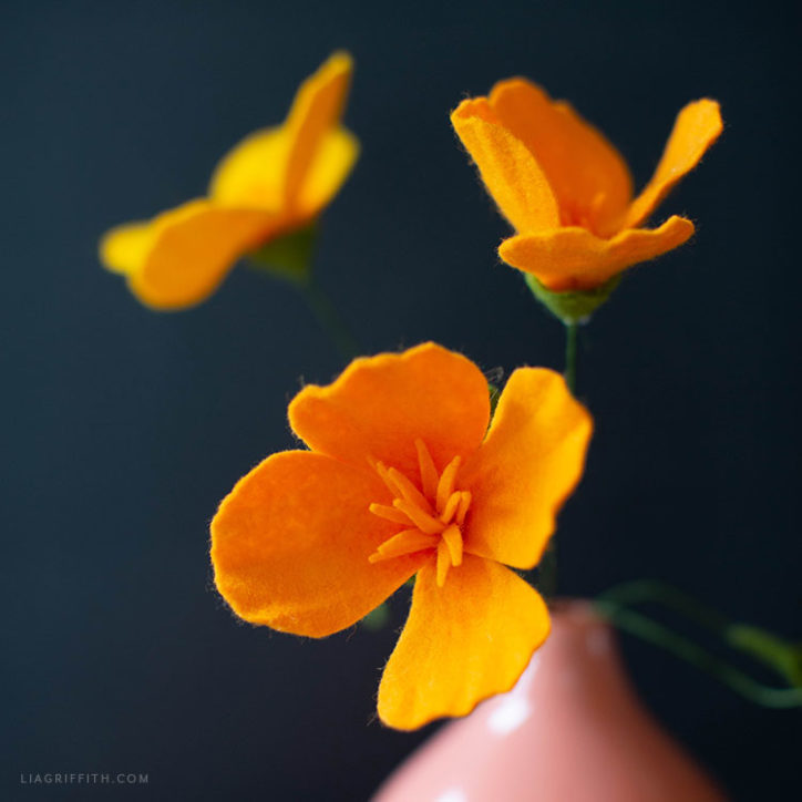 felt poppies