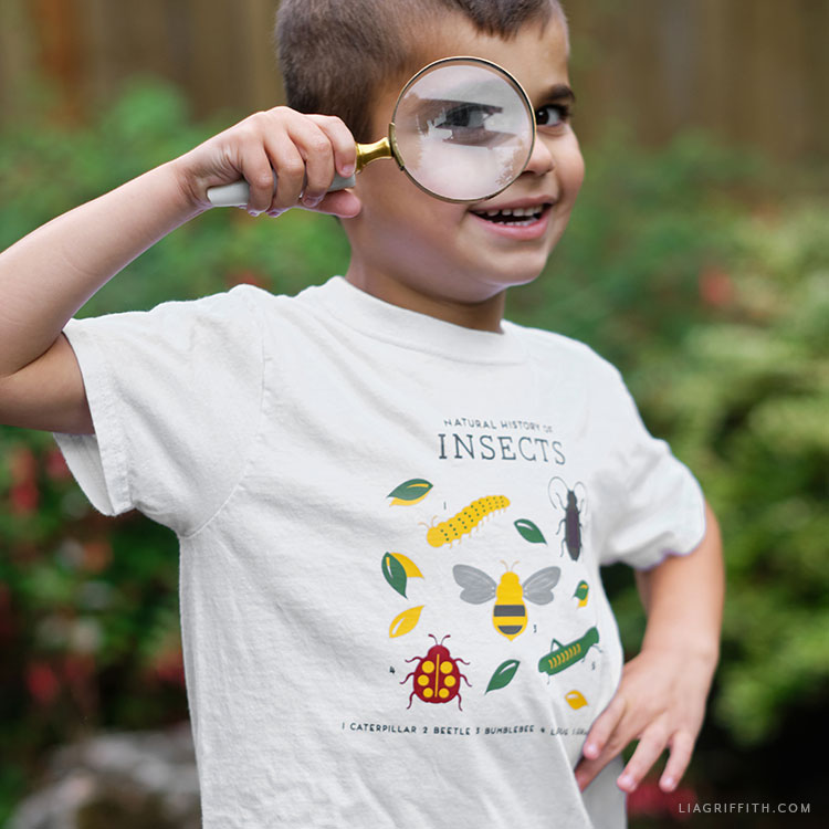 DIY insect t-shirt