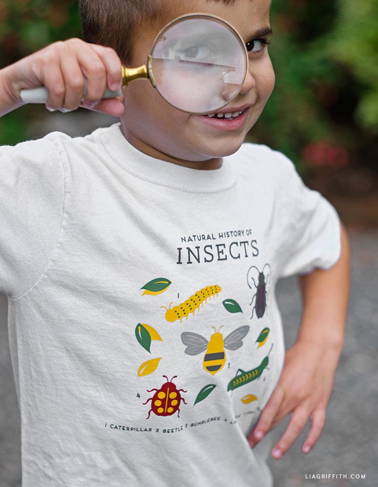 DIY insect shirt design