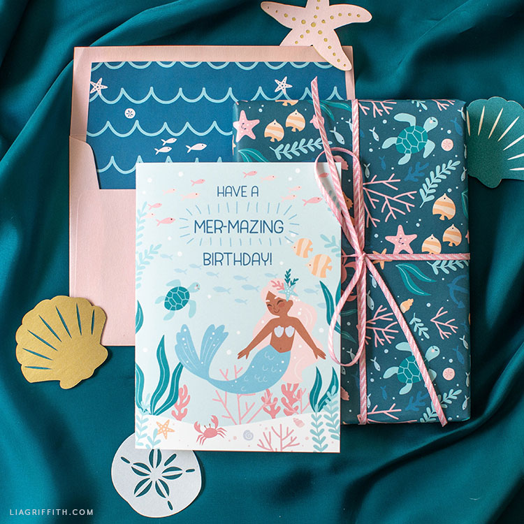Download Printable Mermaid Birthday Card Lia Griffith