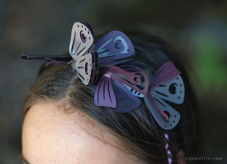 papercut moth headband