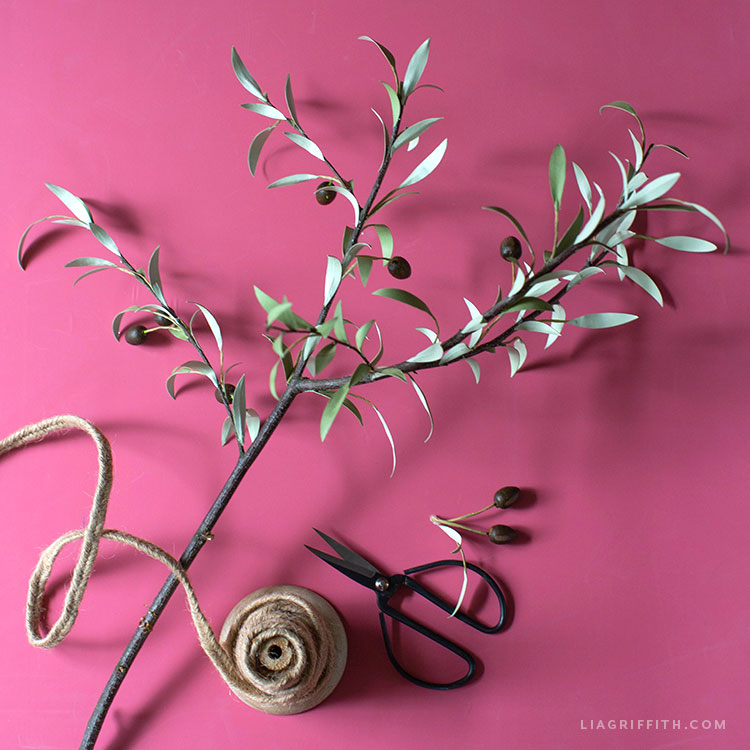 crafting a paper olive tree