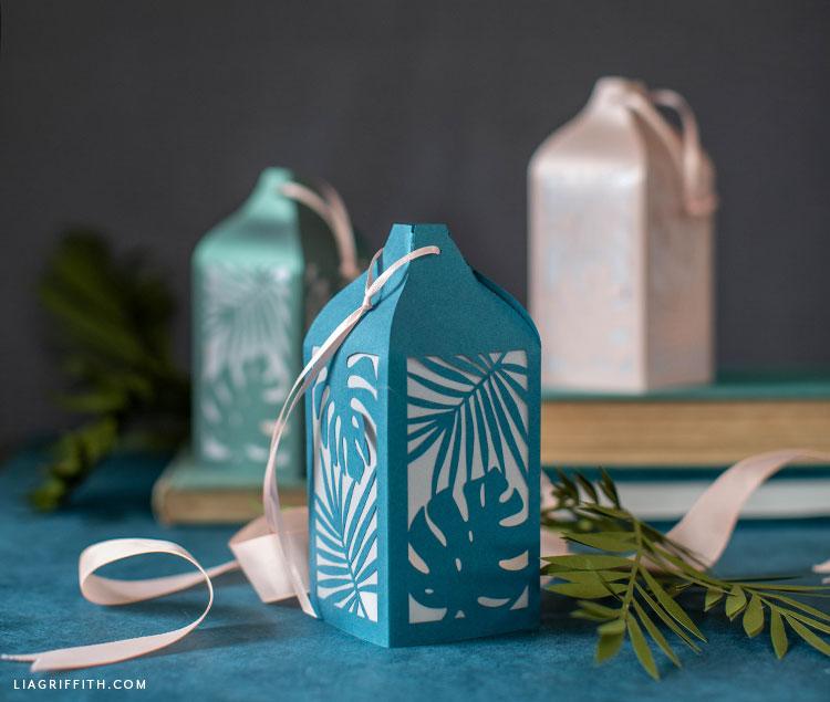papercut tropical lanterns