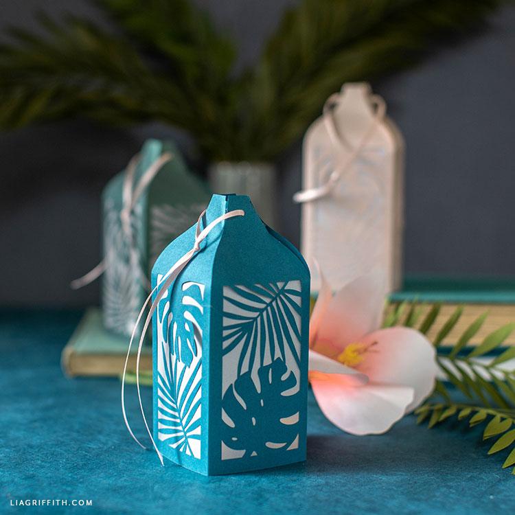 DIY tropical paper lanterns