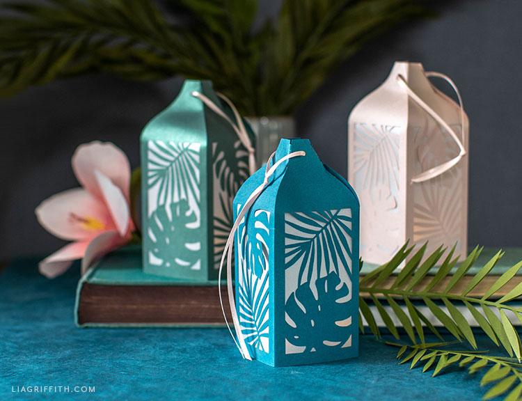 tropical paper lantern decor