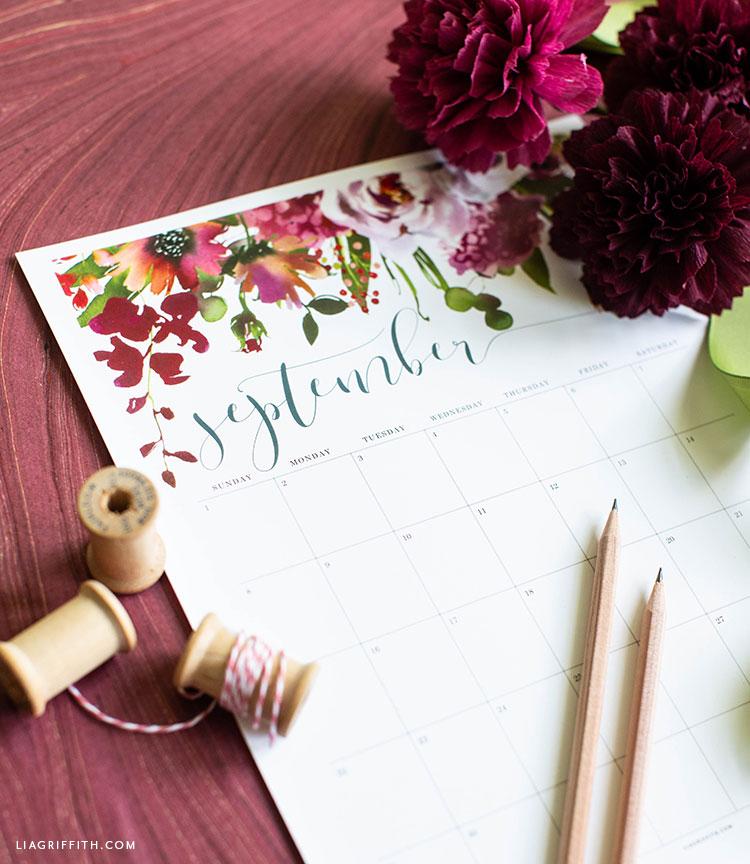 free September 2019 Printable Calendar