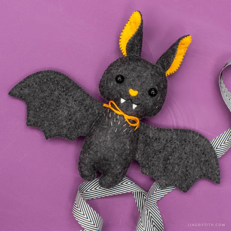 handmade felt baby bat stuffie