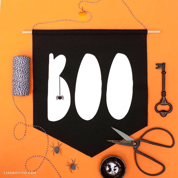 """Felt """"Boo"""" Banner"""