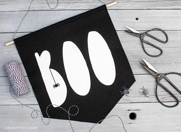 BOO banner made from felt