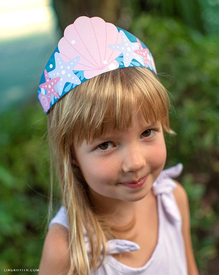 paper mermaid crown