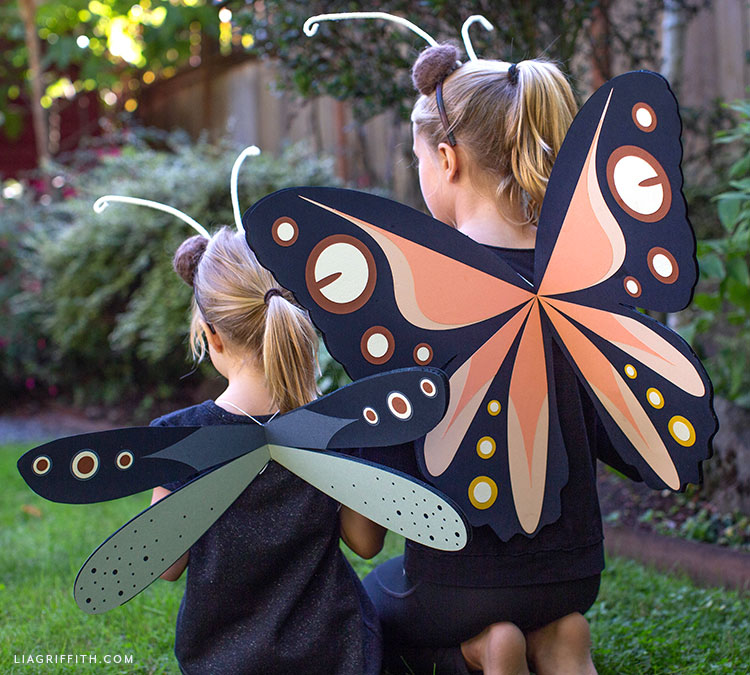 DIY dragonfly costume and butterfly costume for kids