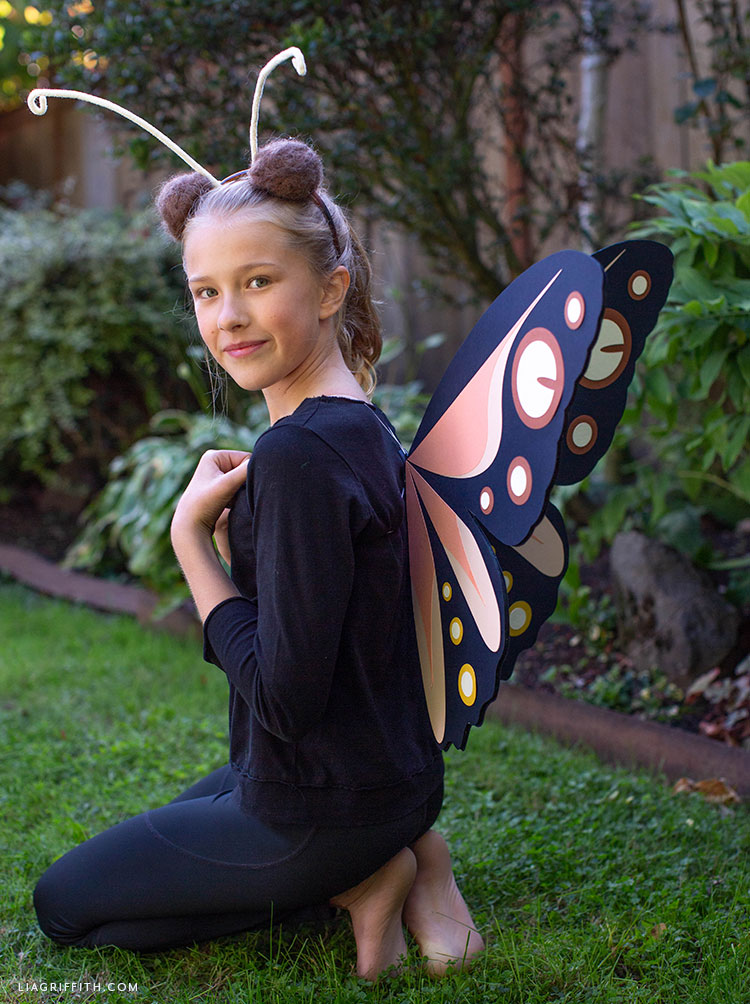 DIY butterfly costume for kids