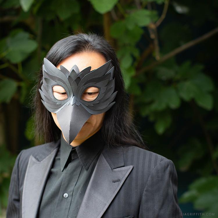 handmade raven mask