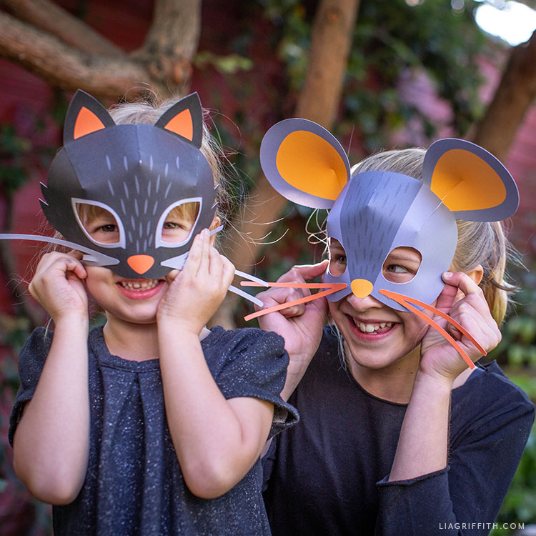 printable cat and mouse masks