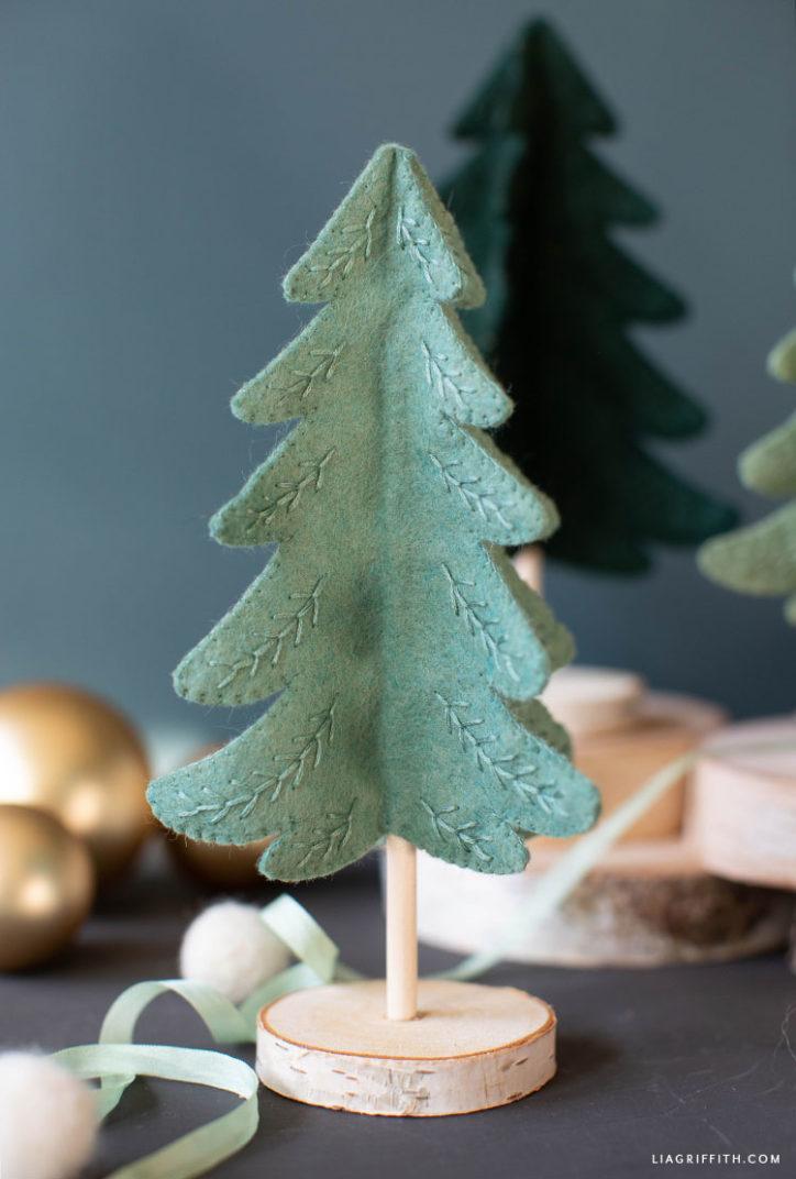 handmade mini felt Christmas tree