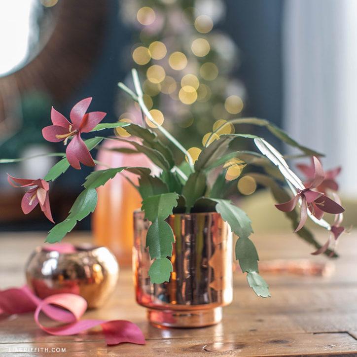 papercut Christmas cactus