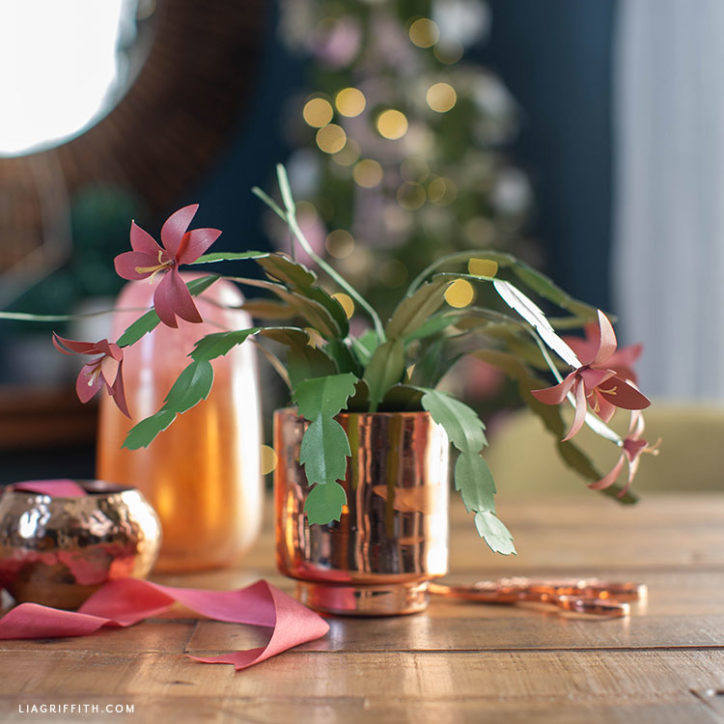 handmade frosted paper Christmas cactus