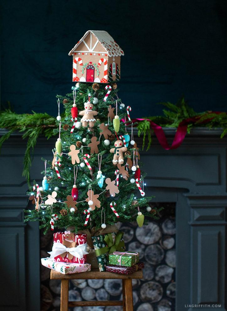 DIY gingerbread Christmas tree for kids