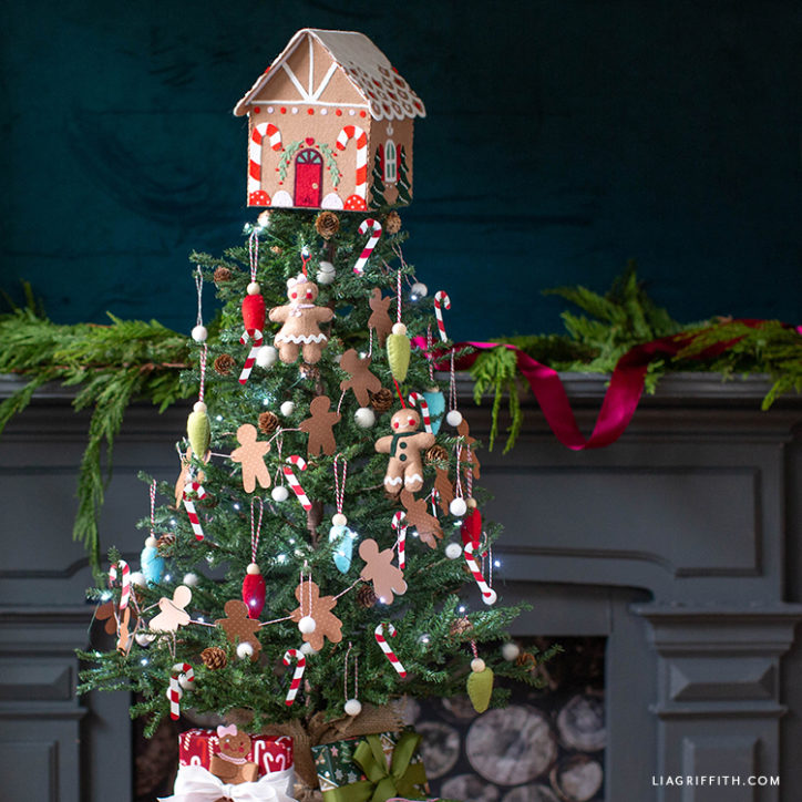 gingerbread themed Christmas tree