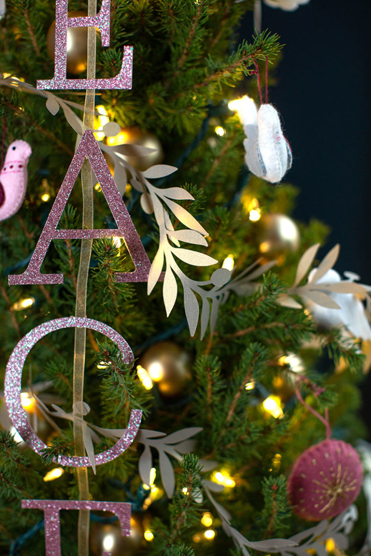 handmade decorations for peace dove Christmas tree theme
