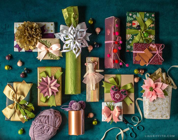 Printable holiday gift wrap