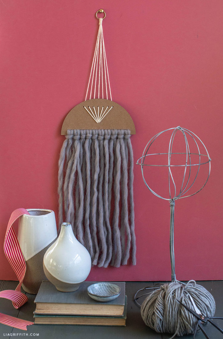 simple yarn wall hanging