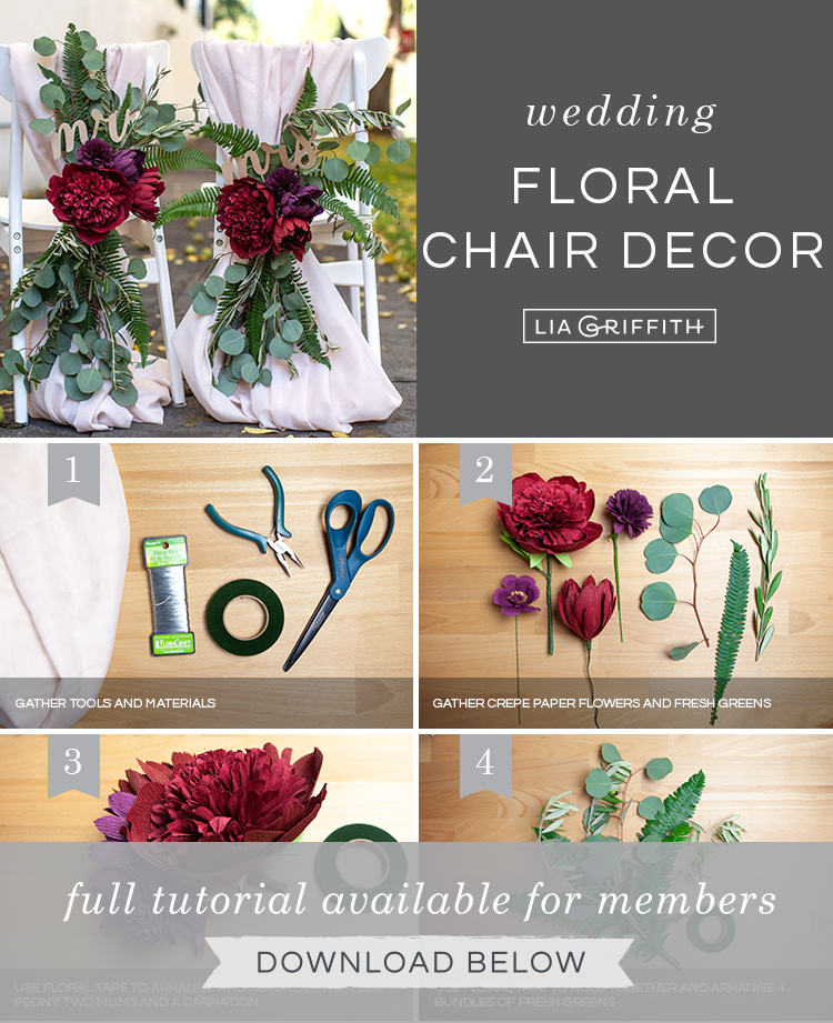 Photo tutorial for wedding flower chair decorations